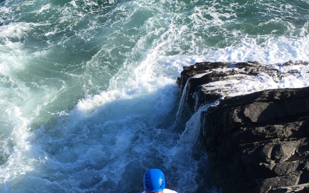 Coastline rock climbing