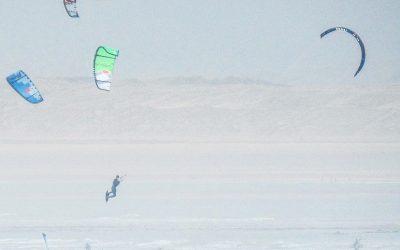 Will practicing his kitesurfing at Westward Ho!